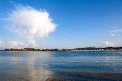 Bello paesaggio Corfù fotografia stock
