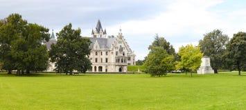 Bello paesaggio del castello Immagine Stock