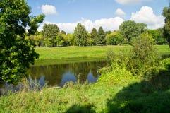 Bello paesaggio del fiume Fotografia Stock