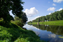 Bello paesaggio del fiume Immagine Stock Libera da Diritti