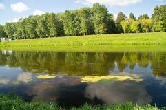 Bello paesaggio del fiume Immagini Stock