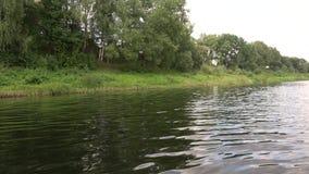 Bello paesaggio del fiume Dvina occidentale stock footage