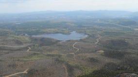 Bello paesaggio del lago e della foresta Immagini Stock