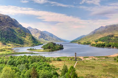 Bello paesaggio del Loch Shiel, Scozia Fotografie Stock