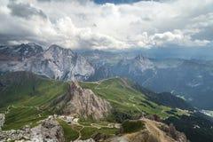 Bello paesaggio del mauntain nelle alpi italiane delle dolomia Passo Po Fotografia Stock Libera da Diritti