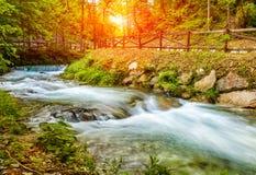 Bello paesaggio del paesaggio nelle alpi italiane Fotografia Stock