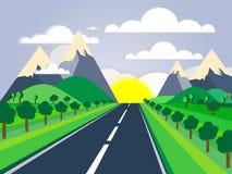 Bello paesaggio del paese Fotografie Stock