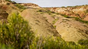 Bello paesaggio del parco di conservazione della baia di Hallet, Australia Meridionale Fotografia Stock