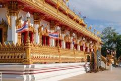 Bello paesaggio del tempio di Wat Nong Wang in Khon Kaen, Tailandia fotografie stock libere da diritti
