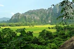 Bello paesaggio del vieng del vang, Laos Fotografia Stock