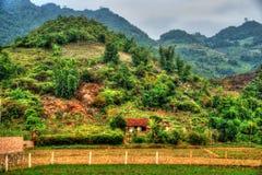 Bello paesaggio del Vietnam del Nord Fotografia Stock