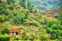 Bello paesaggio del Vietnam del Nord Fotografie Stock