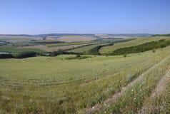 Bello paesaggio del villaggio in Bulgaria del Nord Fotografia Stock Libera da Diritti