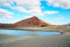 Bello paesaggio dell'isola di Lanzarote Immagine Stock Libera da Diritti
