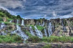 Bello paesaggio della cascata di Pongour, Lam Dong, Vietnam Immagini Stock Libere da Diritti