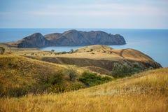 Bello paesaggio della Crimea fotografie stock