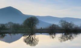 Bello paesaggio della montagna Fotografie Stock
