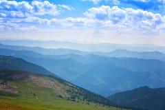 Bello paesaggio della montagna Immagine Stock