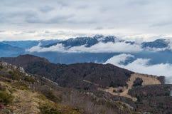 Bello paesaggio della montagna alla polizia del lago, Lombardia, Italia Fotografie Stock Libere da Diritti