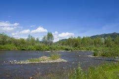 Bello paesaggio della montagna Altai Russia della natura Fotografia Stock Libera da Diritti