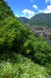 Bello paesaggio della montagna della molla, Montenegro immagine stock
