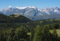 Bello paesaggio della montagna di estate Immagine Stock Libera da Diritti