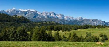 Bello paesaggio della montagna di estate Immagini Stock