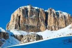 Bello paesaggio della montagna di inverno. Immagini Stock Libere da Diritti