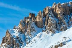 Bello paesaggio della montagna di inverno. Fotografia Stock