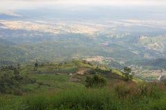bello paesaggio della montagna, paesaggio della foresta della montagna nell'ambito di ev Immagini Stock Libere da Diritti