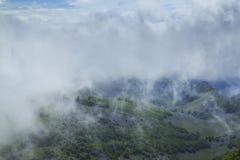 Bello paesaggio della montagna nelle alpi Fotografia Stock Libera da Diritti