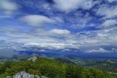 Bello paesaggio della montagna nelle alpi Fotografie Stock Libere da Diritti
