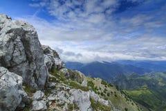 Bello paesaggio della montagna nelle alpi Immagini Stock Libere da Diritti
