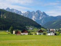 Bello paesaggio della montagna nelle alpi bavaresi Fotografia Stock Libera da Diritti