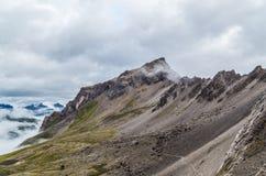 Bello paesaggio della montagna nelle alpi di Lechtal, Tirolo del nord, Austria Immagine Stock Libera da Diritti