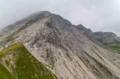 Bello paesaggio della montagna nelle alpi di Lechtal, Tirolo del nord, Austria Immagini Stock