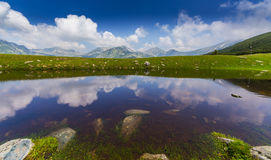 Bello paesaggio della montagna nelle alpi di Transylvanian Immagine Stock