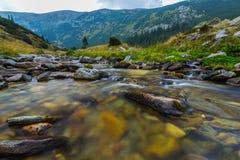 Bello paesaggio della montagna nelle alpi di Transylvanian di estate Fotografie Stock Libere da Diritti