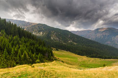 Bello paesaggio della montagna nelle alpi di Transylvanian di estate Immagine Stock Libera da Diritti