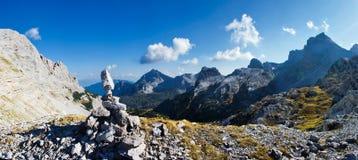 Bello panorama della montagna Fotografia Stock