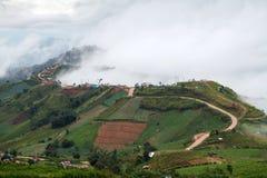 Bello paesaggio della montagna in Phutabberk Phetchabun, Tailandia immagine stock