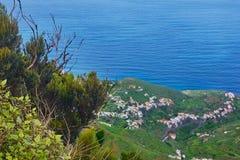 Bello paesaggio della montagna sull'isola tropicale Tenerife, canarino Immagini Stock