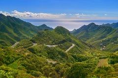 Bello paesaggio della montagna sull'isola tropicale Tenerife, canarino Immagini Stock Libere da Diritti
