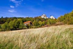 Bello paesaggio della natura della montagna di Kalnik Immagini Stock Libere da Diritti