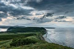 Bello paesaggio della penisola Balyuzek Russia Immagini Stock Libere da Diritti