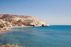 Bello paesaggio della riva di mare Fotografia Stock Libera da Diritti