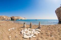 Bello paesaggio della riva di mare Fotografie Stock