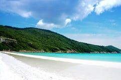 Bello paesaggio della spiaggia Fotografia Stock Libera da Diritti