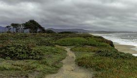 Bello paesaggio della spiaggia in California fotografie stock