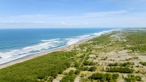 Bello paesaggio della spiaggia del DUA di Nusa Immagini Stock Libere da Diritti